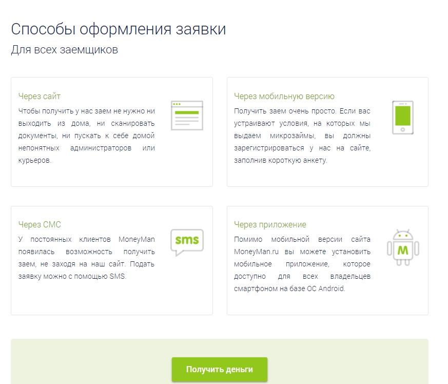 MoneyMan (МаниМен) оформить займ - официальный сайт, отзывы, личный кабинет